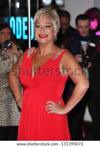 Denise Welch arriving at the UK premiere of Run For Your Wife, at the Odeon Leicester Square, London. 05/02/2013 Picture by: Alexandra Glen