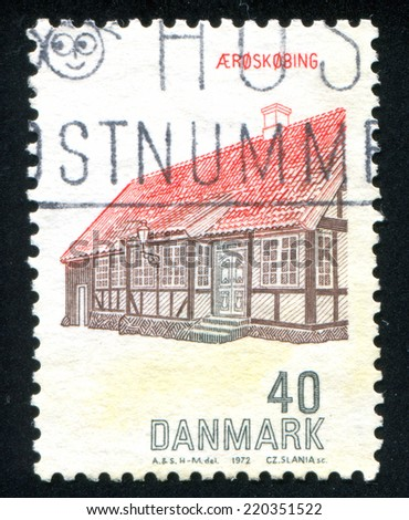 DENMARK - CIRCA 1972: stamp printed by Denmark, shows Aeroskobing House, circa 1972