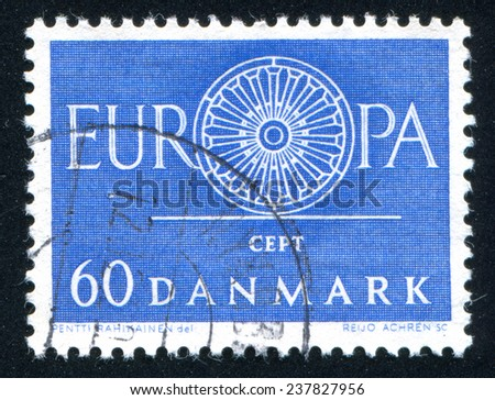 DENMARK - CIRCA 1984: stamp printed by Denmark, shows Denmark stamp, circa 1984 - stock photo