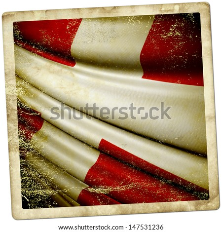 Denmark grunge sticker - stock photo