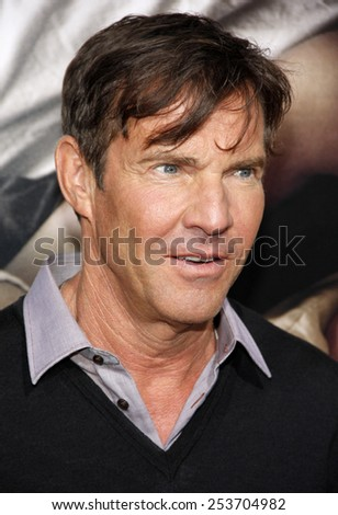 "Dennis Quaid at the Los Angeles premiere of ""The Words"" held at the ArcLight Theatre in Los Angeles, United States on September 4, 2012."