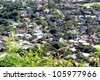 Dense residential area - stock photo
