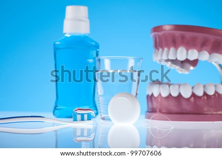 Dental health care objects - stock photo