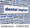 Dental implant medical message background. Dental surgery poster design - stock photo