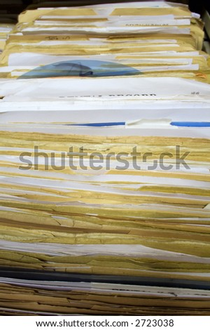Dental Records in Filing Cabinet Drawer - stock photo