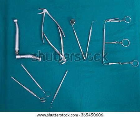 Dental tools - stock photo