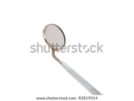 dental tools on a white background - stock photo
