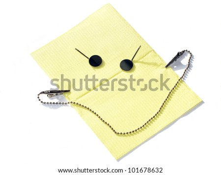 Dental tools smile - stock photo