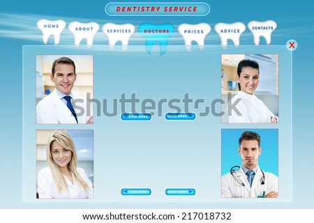 dental web site template - stock photo
