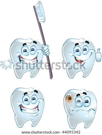 dentes isolated on a white background. raster - stock photo