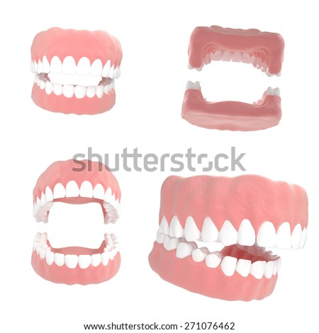 Dentistry illustrations 3d render - stock photo