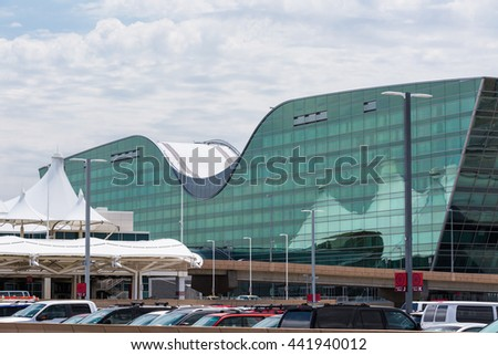 Denver, Colorado, USA-June 22, 2016.  Denver International Airport with Westin hotel.