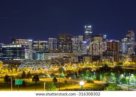 Denver downtown panorama, Colorado, USA