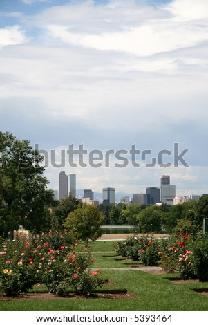 Denver - from City Park - stock photo