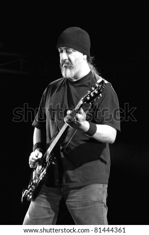 DENVER	JULY 18:		Guitarist Kim Thayil of the Heavy Metal band Soundgarden performs in concert July 18, 2011 at Red Rocks Amphitheater in Denver, CO.