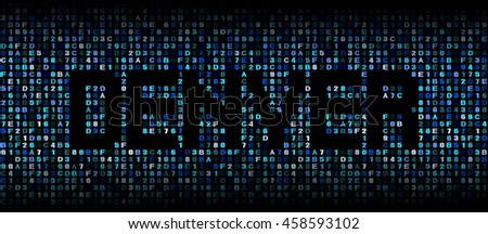 Denver text on hex code illustration - stock photo