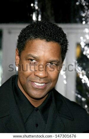 "Denzel Washington ""American Gangster"" Premiere ArcLight Theater Los Angeles, CA October 29, 2007 - stock photo"
