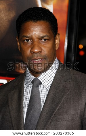 Denzel Washington at the Los Angeles premiere of 'Unstoppable' held at the Regency Village Theatre in Westwood on October 26, 2010.  - stock photo