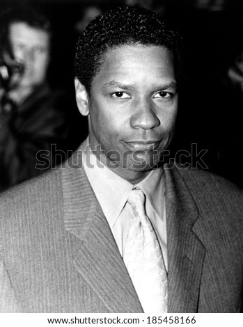 Denzel Washington at the New York premiere of BONE COLLECTOR, 10/28/99 - stock photo