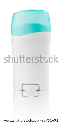 Deodorant container isolated on a white background unlabeled