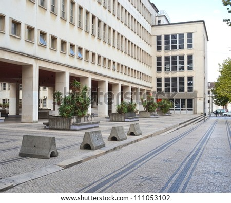 Department of Physics, University of Coimbra - stock photo