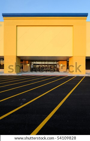 Department store entrance - stock photo