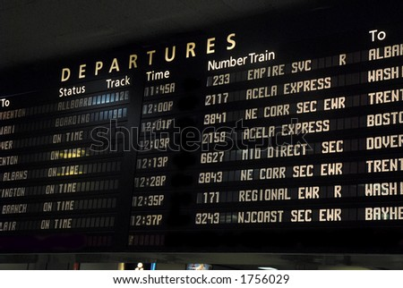 Departure/Arrival board - stock photo