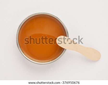 depilatory wax isolated with shadows - stock photo
