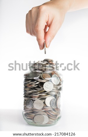 Deposit your budget for investment in the future - stock photo