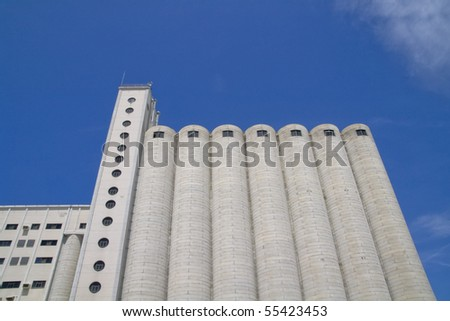 depostios enormous stores where wheat and other cereals - stock photo