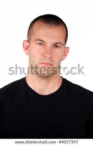 Depressed Expression - stock photo