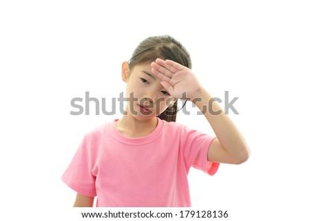Depressed girl - stock photo