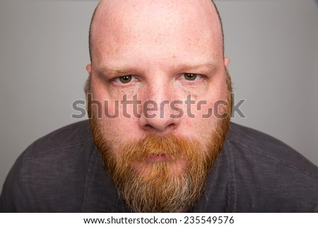 depressed man - stock photo