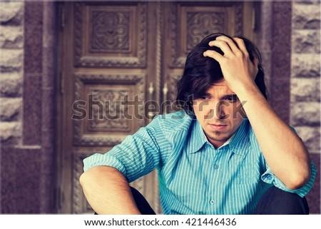 Depression. - stock photo