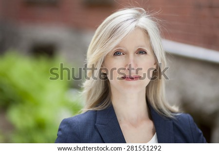Depression Of A Mature Businesswoman - stock photo