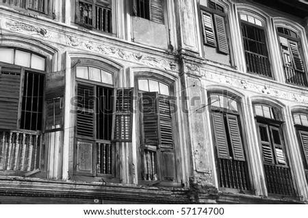 Derelict Old Windows - stock photo