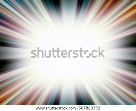 Desaturated starburst explosion border with white copyspace centre