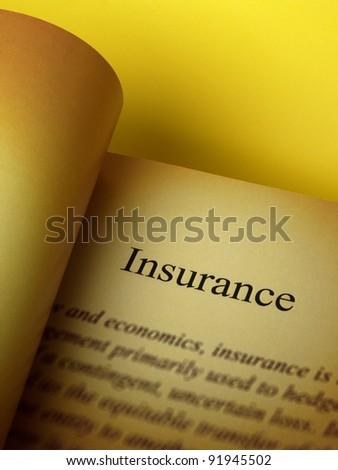 Description of insurance - stock photo