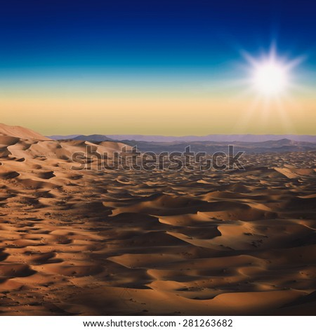 Desert. Abstract natural landscape for your design - stock photo