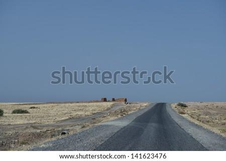 Desert African Road - stock photo