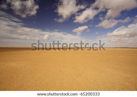 desert and clouds - stock photo