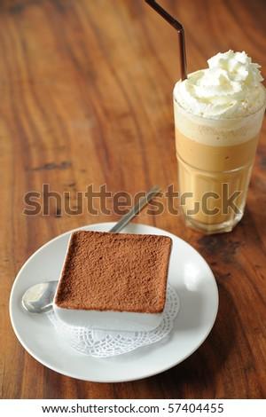 desert and coffee - stock photo