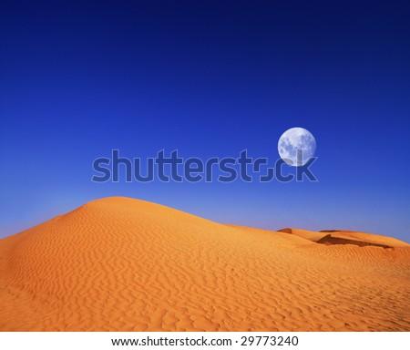 desert at evening - stock photo