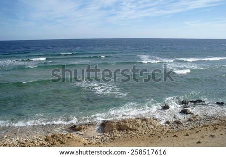 Desert bay in the red sea region, sinai, egypt. - stock photo
