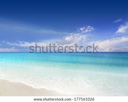Desert Beach - stock photo