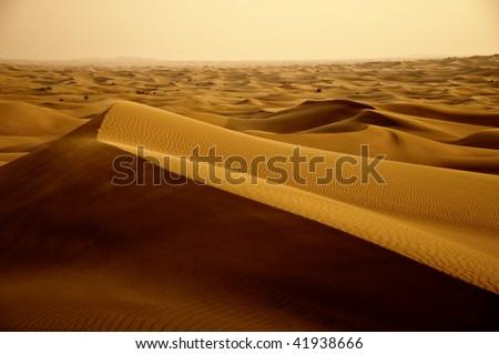 Desert dunes in Dubai - stock photo