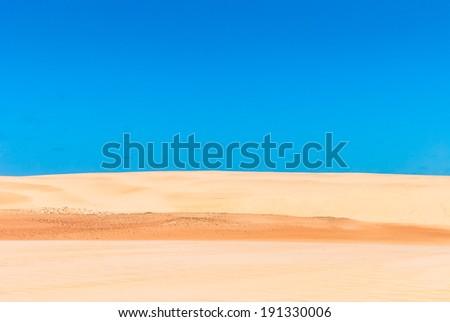 Desert dunes of Genipabu in Natal, Brazil - stock photo