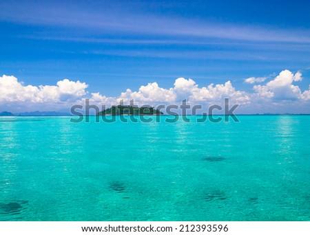 Desert Island Heaven On Earth  - stock photo