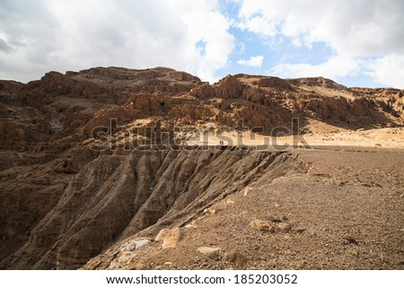 Desert landscape close to the dead sea, Israel - stock photo