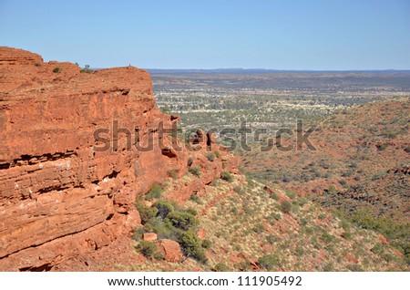 Desert Landscape in Kings Canyon National Park, Australia - stock photo